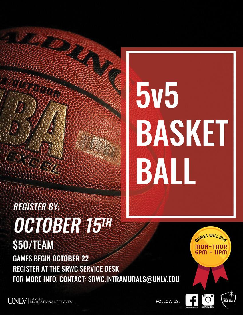 5v5 basketball flyer