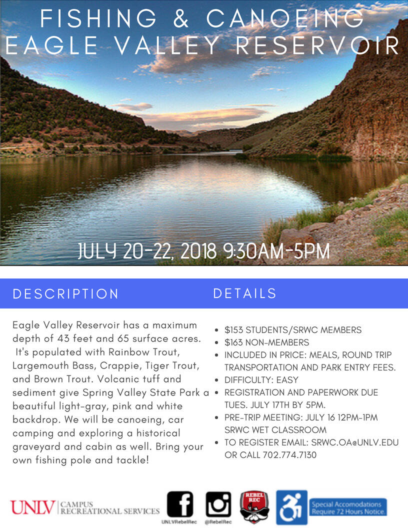 Eagle Valley Fishing & Canoeing flyer
