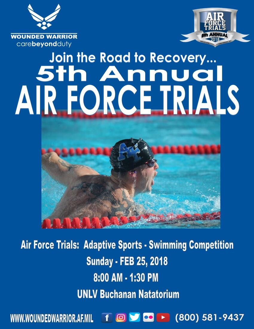 Air Force Trials: Adaptive Sports-Swimming Competition