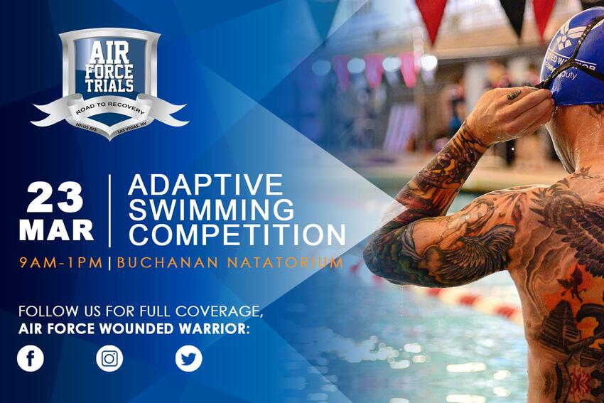 Adaptive Swimming Competition Poster