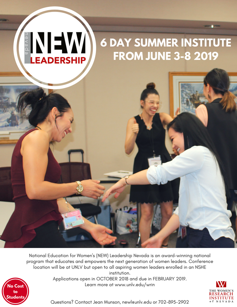 Nevada NEW Leadership 6 day summer institute poster