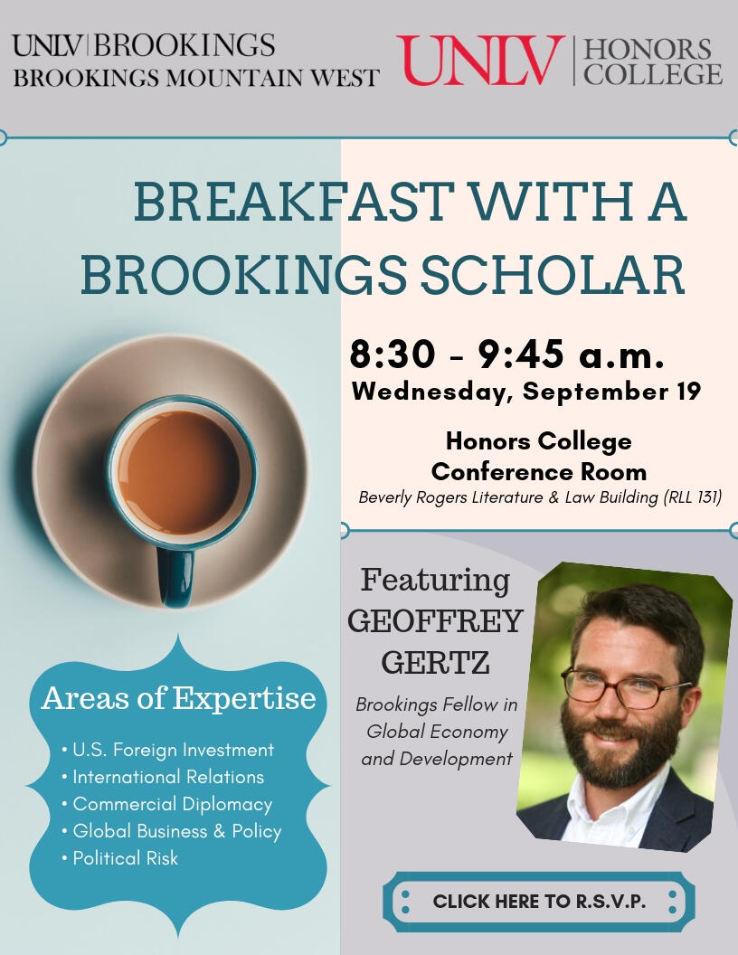 Breakfast with a Brookings Scholar poster