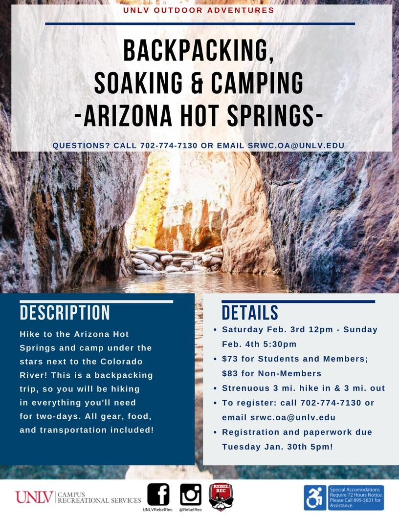 Backpacking and Camping trip poster