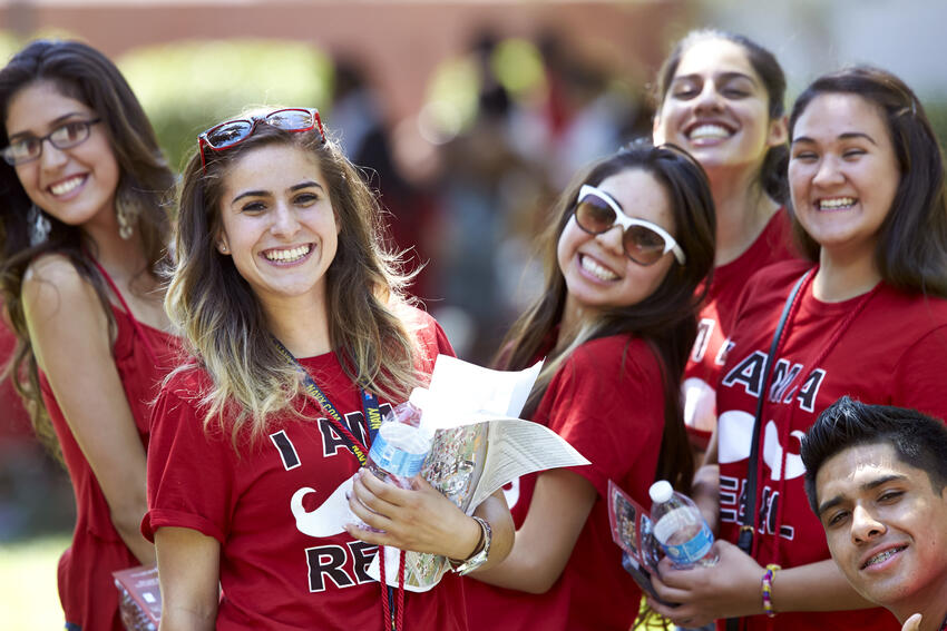 students celebrating welcome week at UNLV