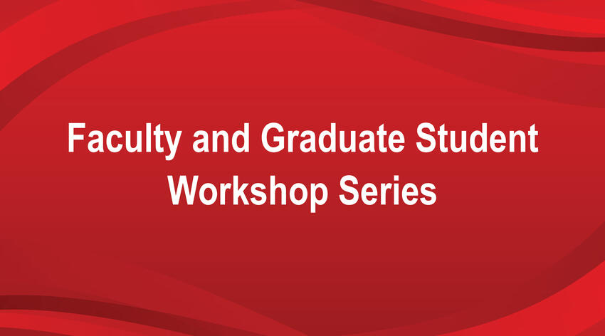 Faculty and Graduate Student Workshop Series banner