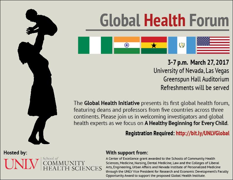 Global Health Forum | Calendar | University of Nevada, Las Vegas