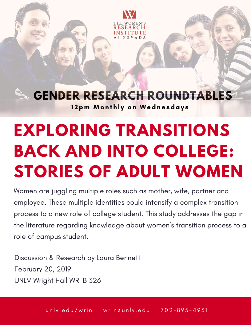 Gender Research Roundtables poster
