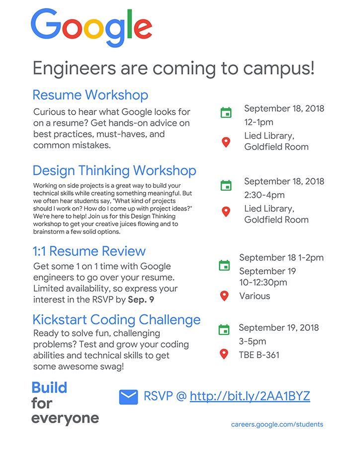 Google workshop flyer