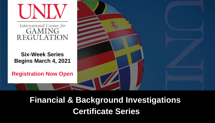 UNLV ICGR Financial and Background Investigations Course Series