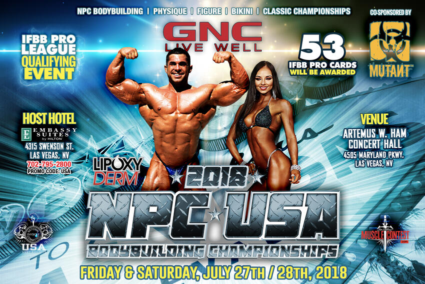 NPC USA Bodybuilding Championships | Calendar | University of Nevada