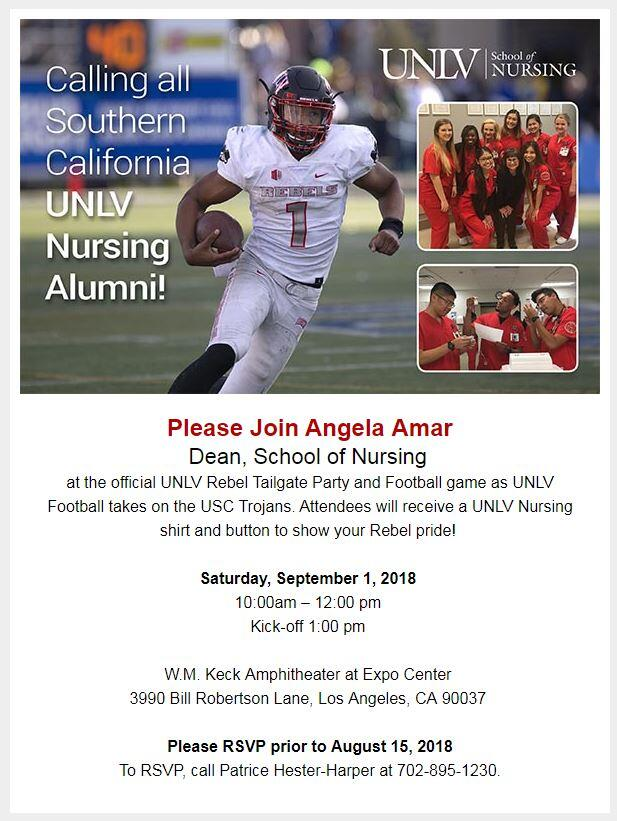Nursing Tailgate invitation.