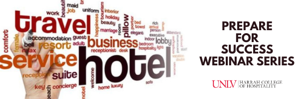 A word collage of hospitality related words.