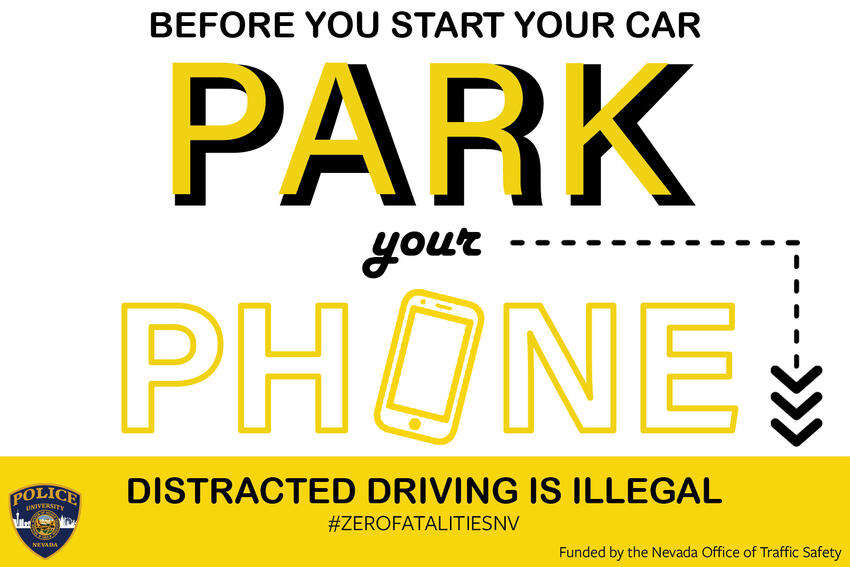 Park your Phone Distracted Driving is illegal