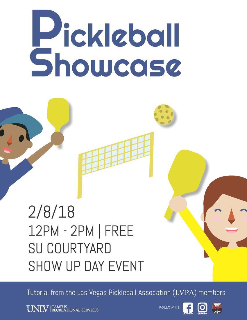 pickleball showcase poster