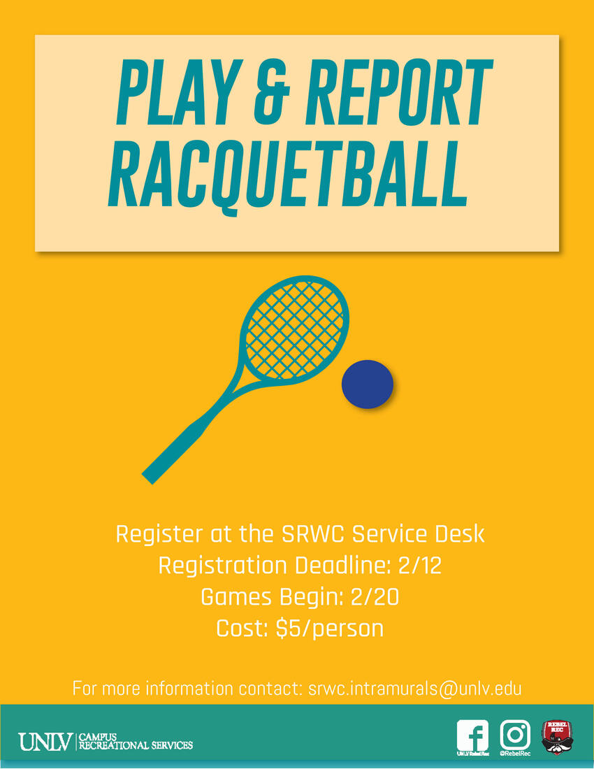 Play and report racquetball poster