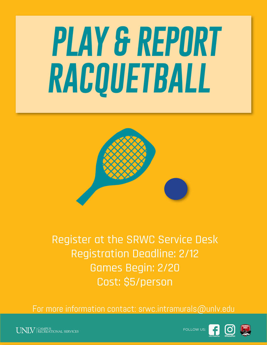 Play & Report Racquetball poster
