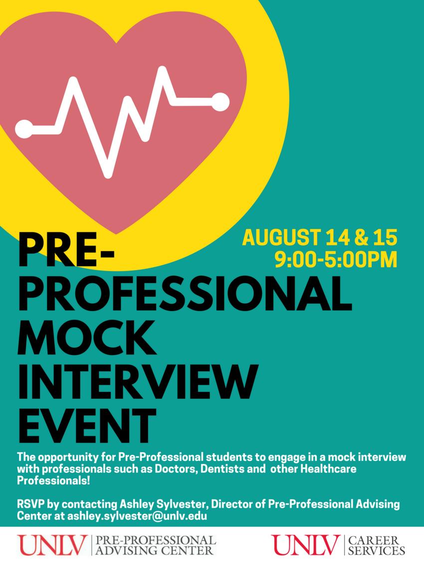 Pre-Professional Mock Interview Event | Calendar