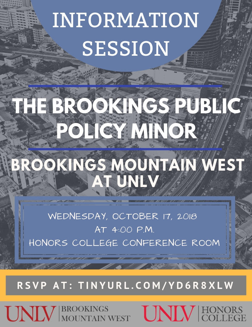 Brookings Public Policy Minor Information Session flyer