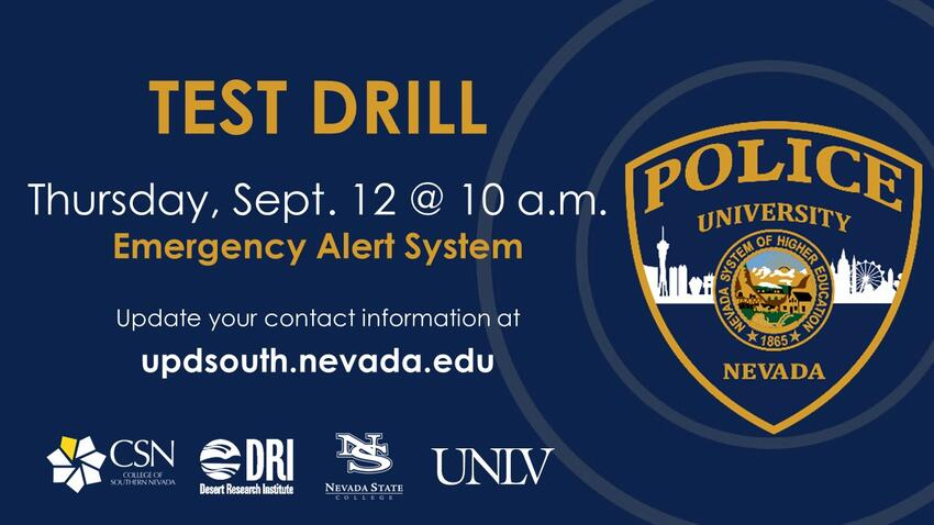 Emergency Alert System TEST | Calendar | University of