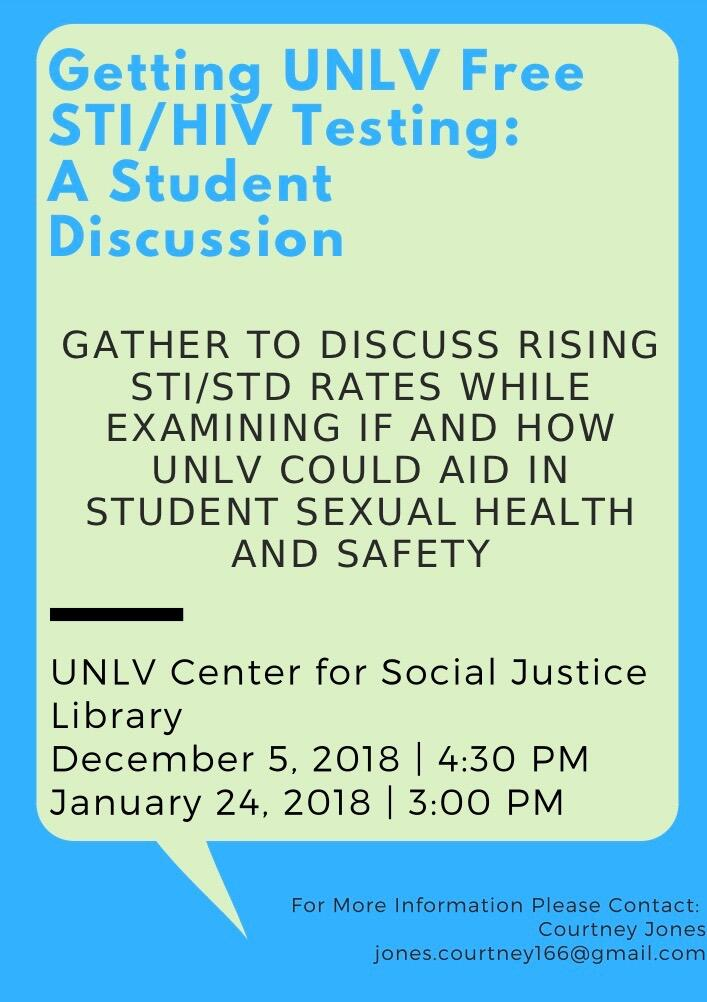 Getting UNLV free STI/HIV testing: s student discussion poster