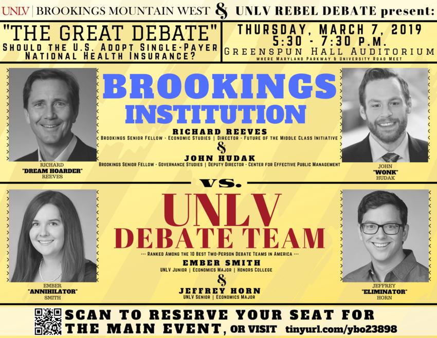 The Great Debate flyer