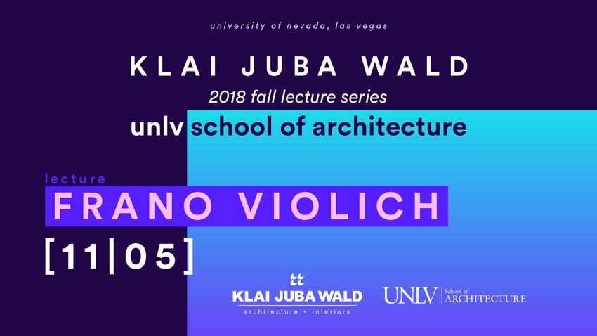 Klai Juba Wald lecture series poster