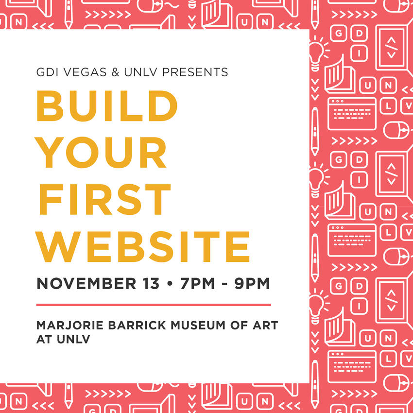 Build your first website poster