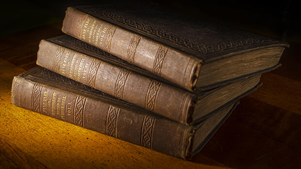 Old victorian books.