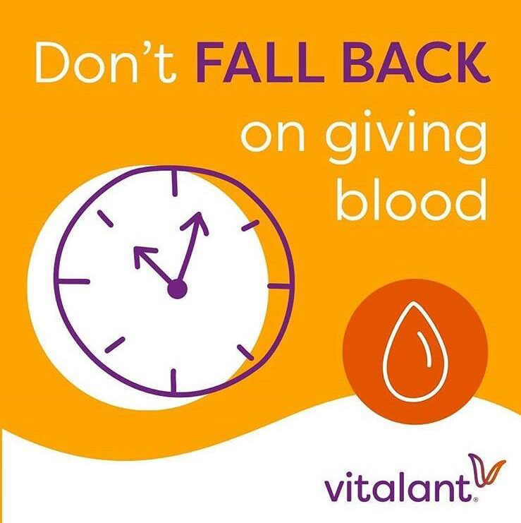 Don't Fall Back on Giving Blood