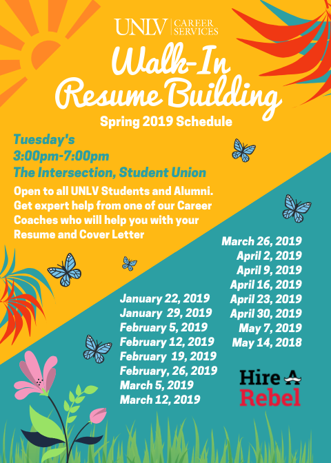 Walk-In Resume Building poster