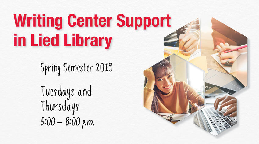 Writing Center Support postcard