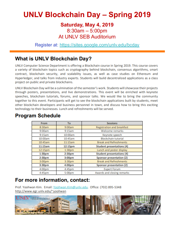 Blockchain day poster