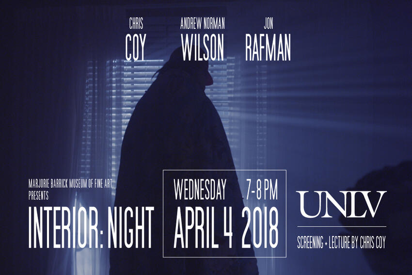 Interior:Night Screening and Lecture poster