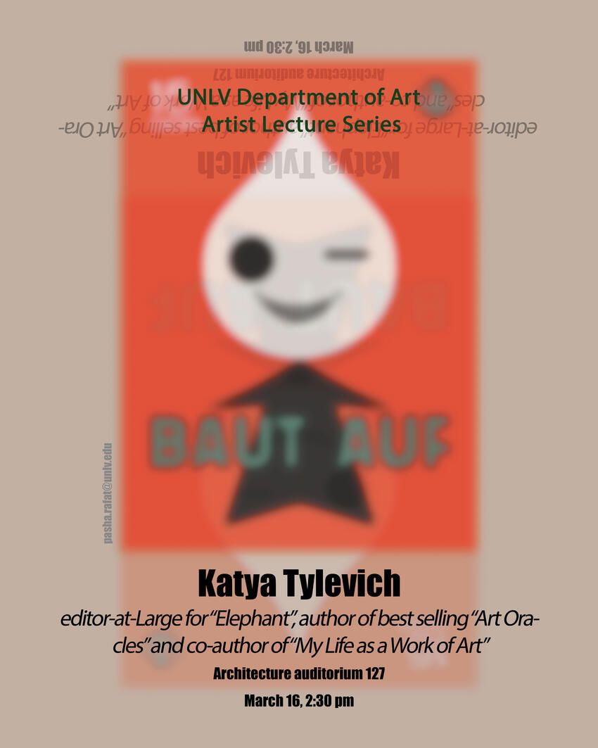 Katya Tylevich lecture flyer