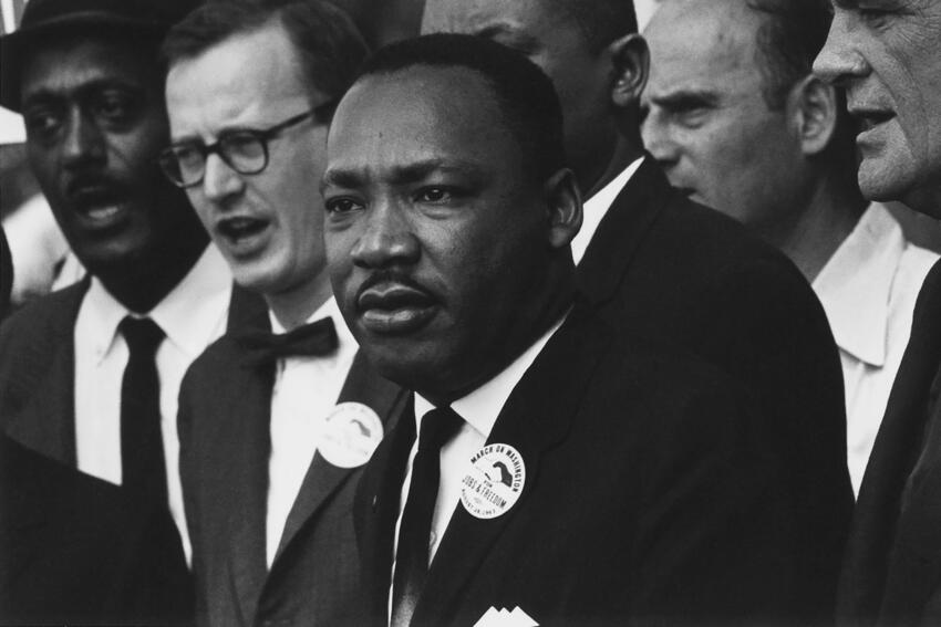 Martin Luther King Jr. speaks at civil rights march on Washington, D.C. in 1963
