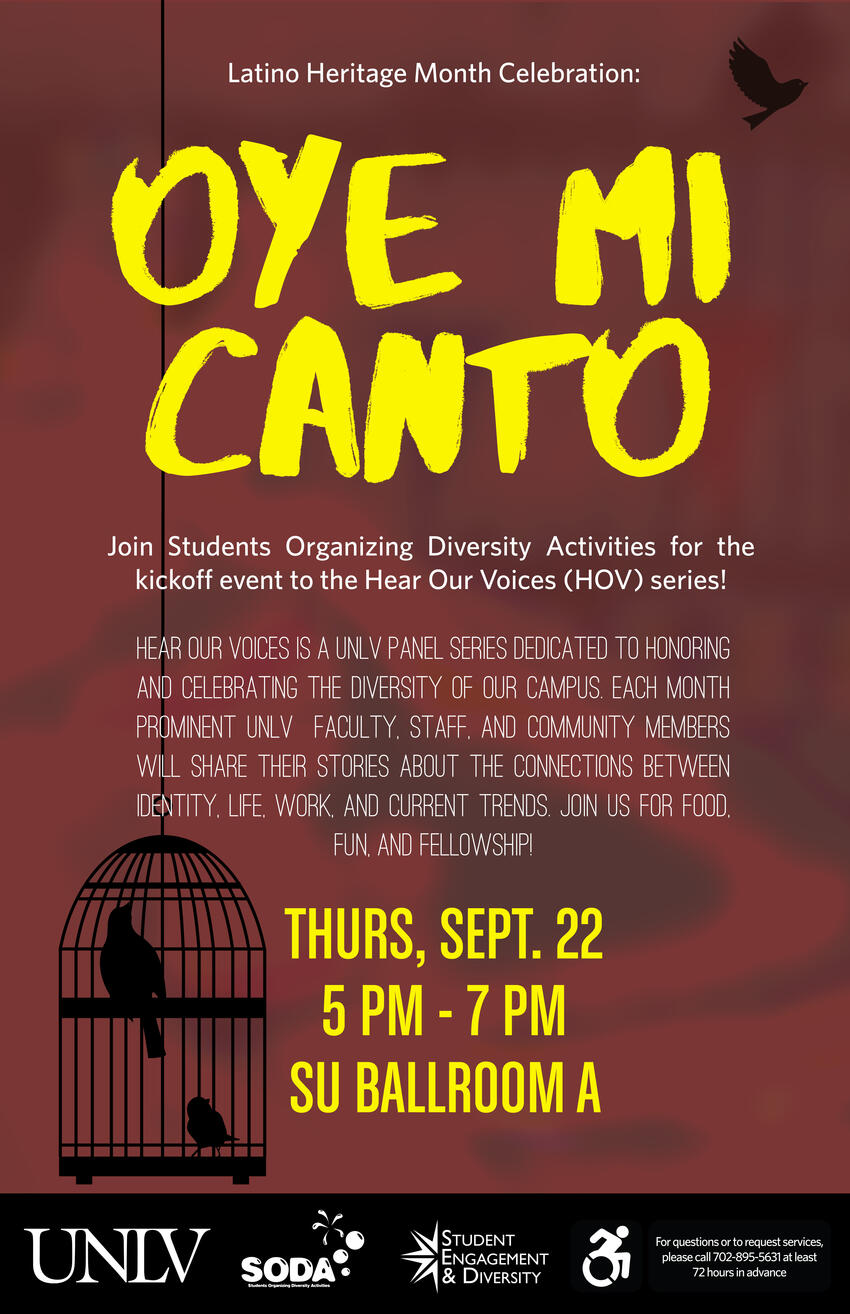 Hear Our Voices Series: Oye Mi Canto | Calendar | University