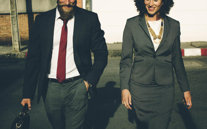 photo of business man and woman