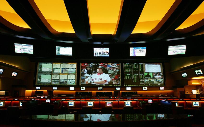 Photo of sports betting room