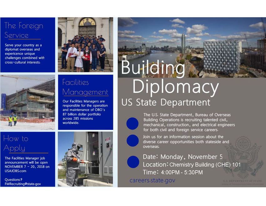 US State Department career information poster