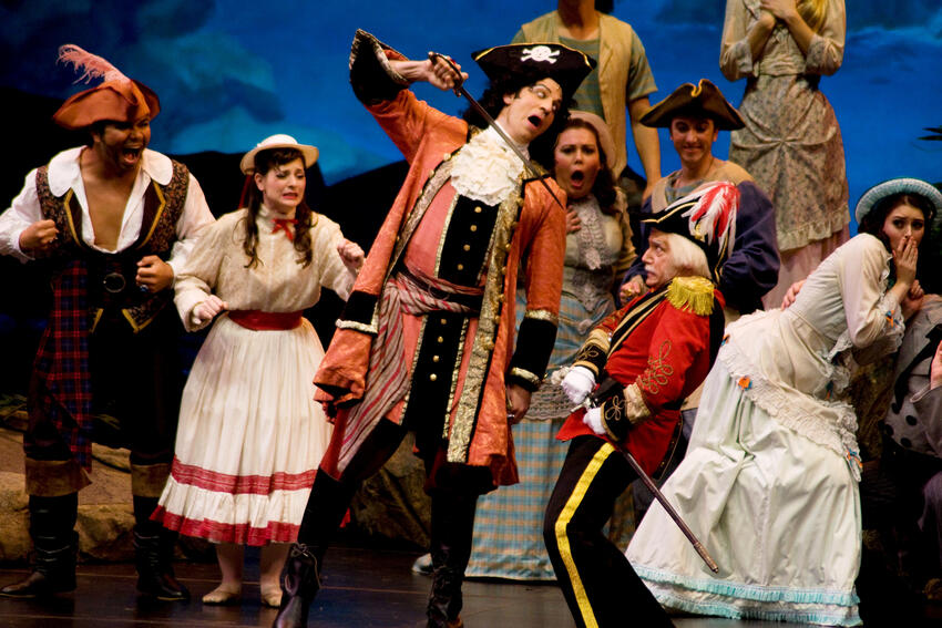 scene from The Pirates of Penzance