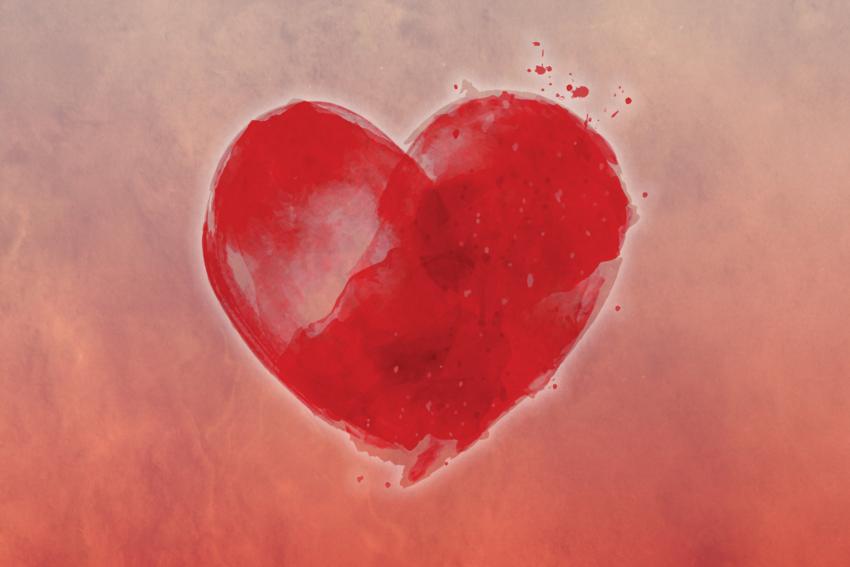 Heart on a Pink Field