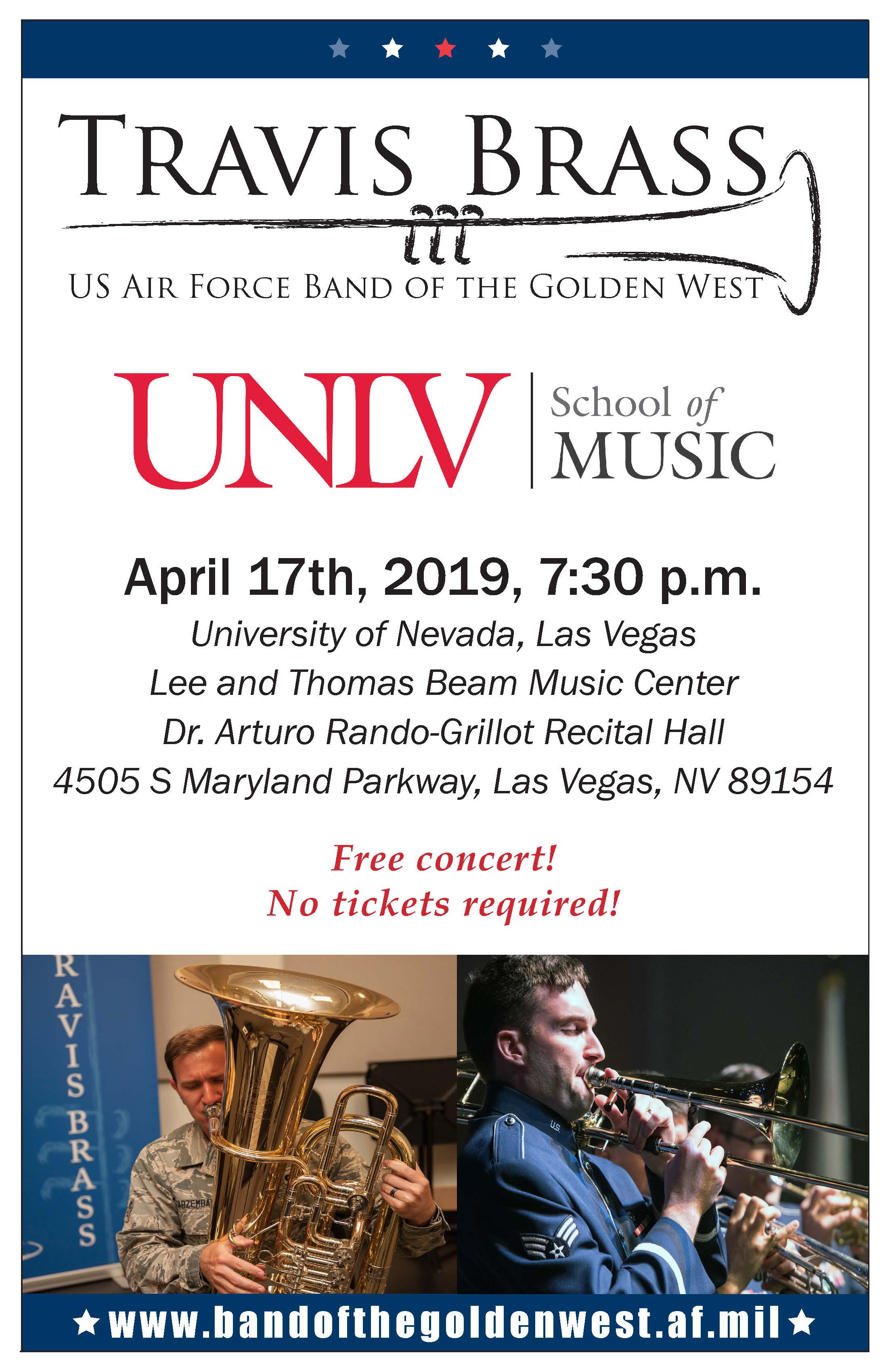 Travis Brass Quintet- Air Force Band of the Golden West | Calendar